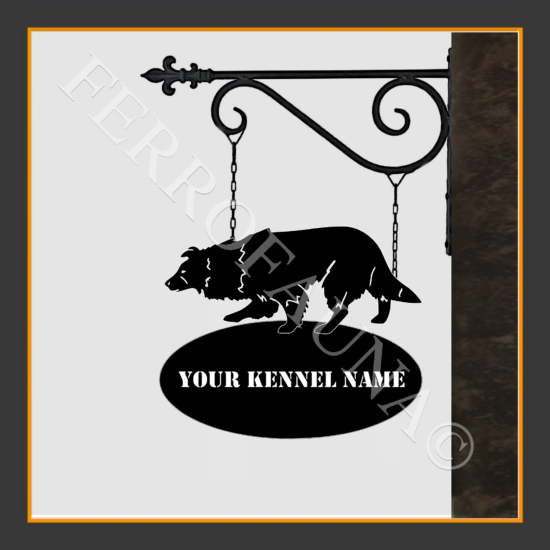 Border Collie V.1 Sign With Kennel Name
