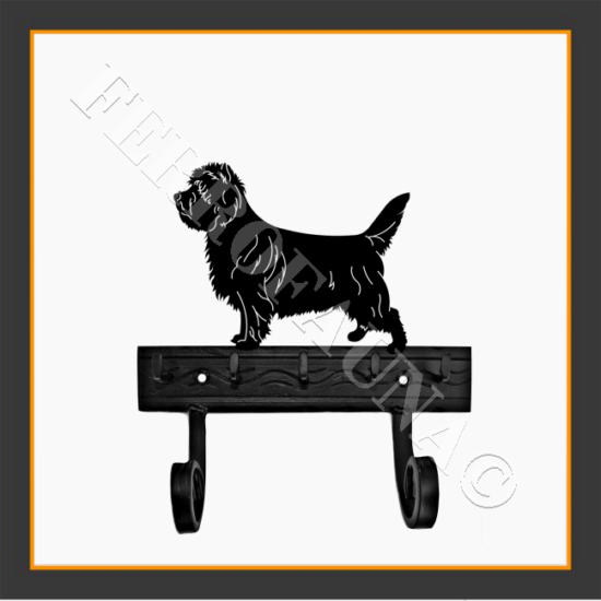 Cairn Terrier Key and Leash Holder