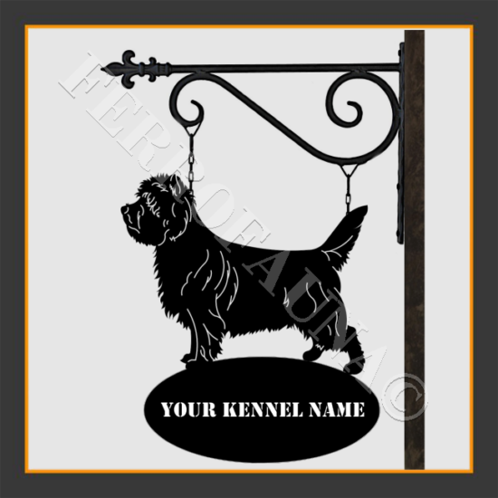 Cairn Terrier Sign With Kennel Name