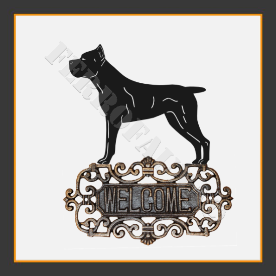 Cane Corso Welcome Sign