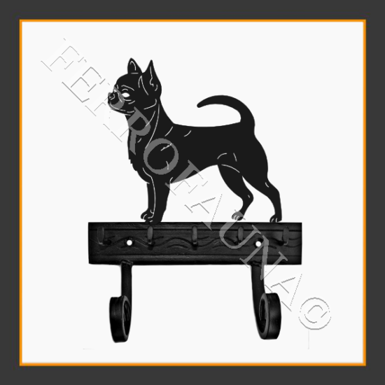 Chihuahua Smooth Key and Leash Holder