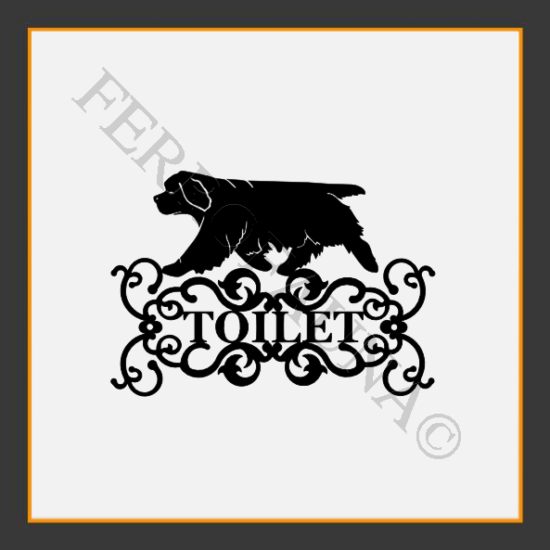 Clumber Spaniel Toilet  Sign
