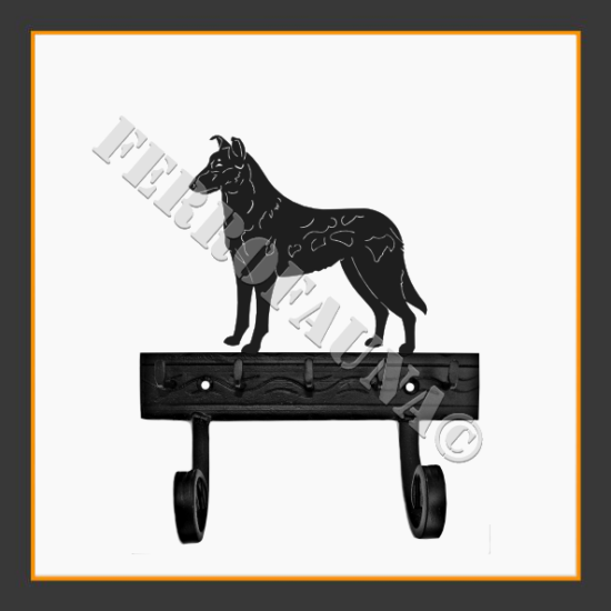 Collie Smooth Key and Leash Holder