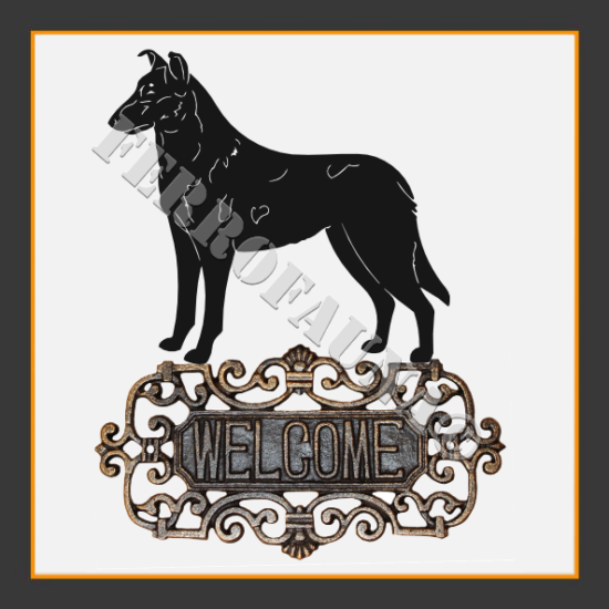 Collie Smooth Welcome Sign