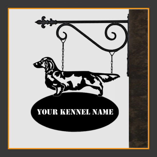 Dachshund Langhaar Sign With Kennel Name