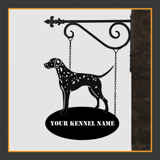 Dalmatiner Sign With Kennel Name