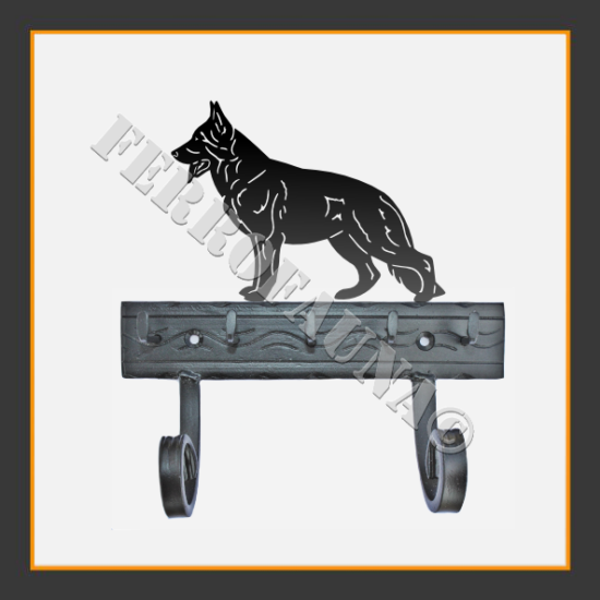 Deutscher Schaferhund Key and Leash Holder
