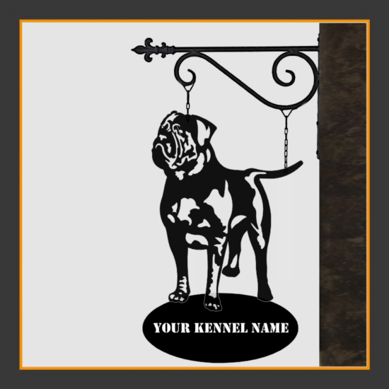 Dogue de Bordeaux Sign With Kennel Name