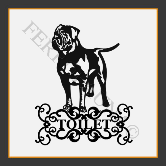 Dogue De Bordeaux Toilet  Sign