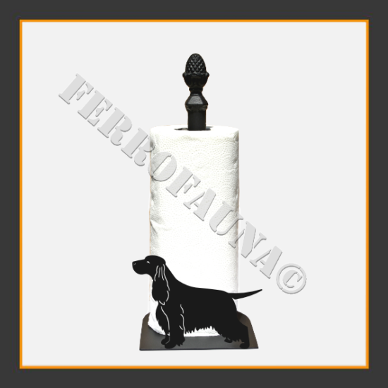 English Cocker Spaniel Kitchen Towel Holder