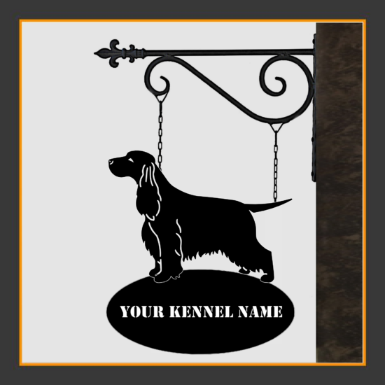 English Cocker Spaniel Sign With Kennel Name