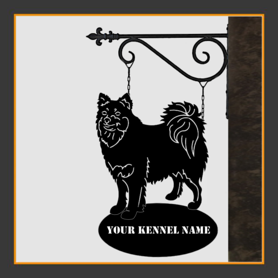Finnish Lapphund Sign With Kennel Name