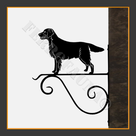 Flat Coated Retriever Flower Holder