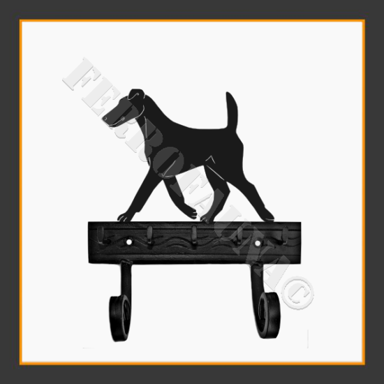 Fox Terrier Smooth Key and Leash Holder