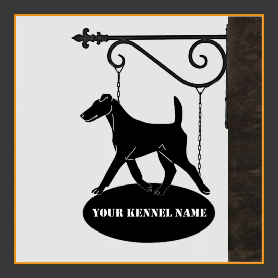 Fox Terrier Smooth Sign With Kennel Name