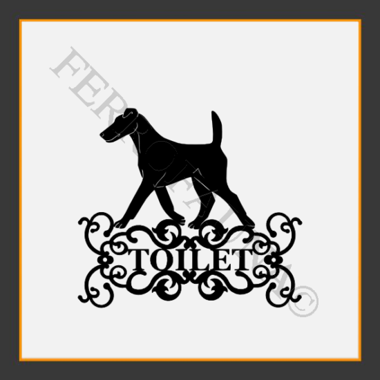 Fox Terrier Smooth Toilet  Sign