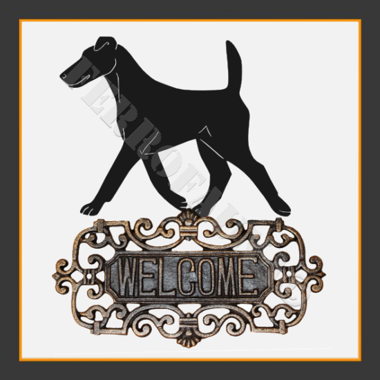 Fox Terrier Smooth Welcome Sign