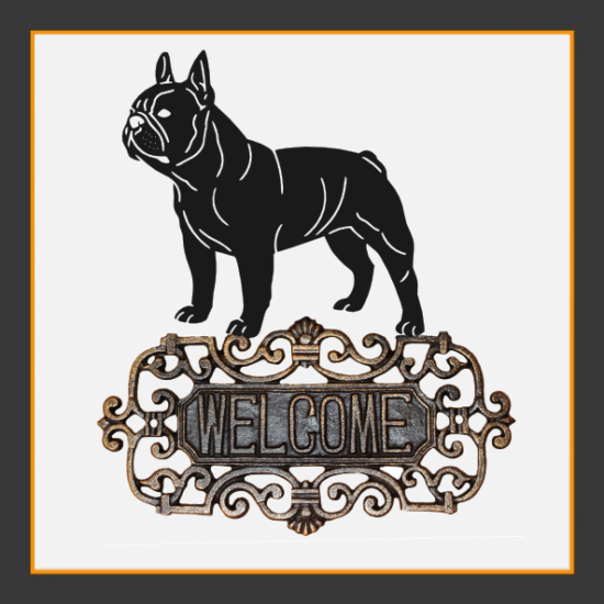 French Bulldog V.2 Welcome Sign