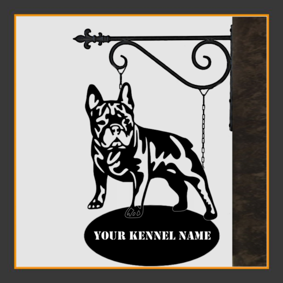 French Bulldog V.1 Sign With Kennel Name