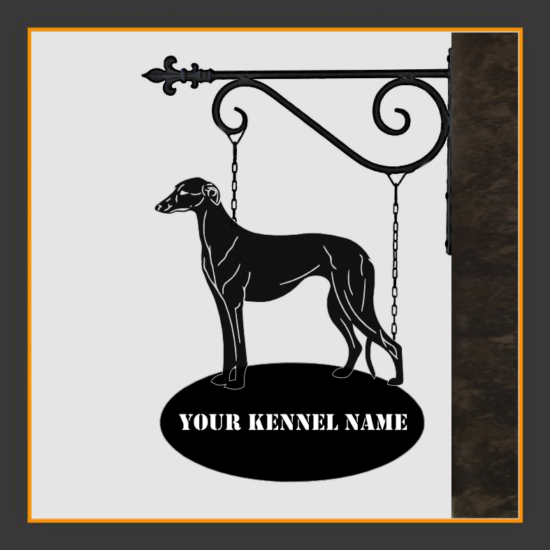 Galgo Espanol Sign With Kennel Name