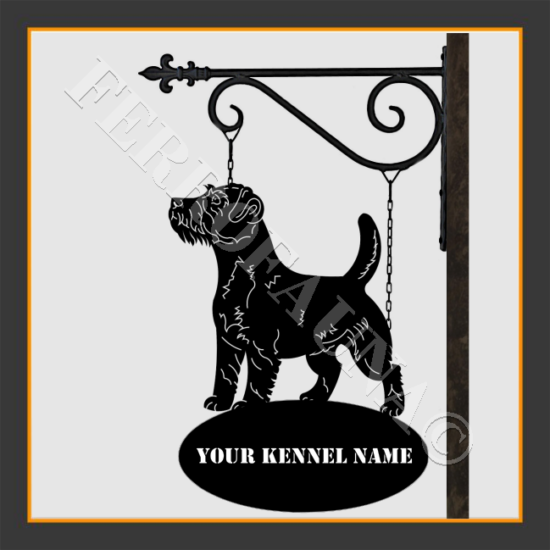 Jack Russel Terrier Sign With Kennel Name