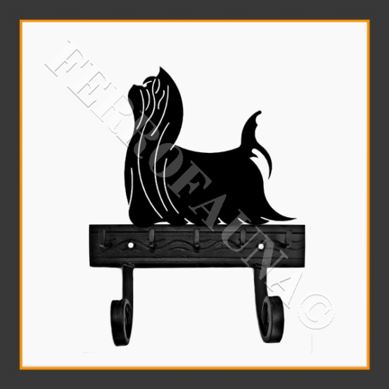 Yorkshire Terrier 1 Key and Leash Holder