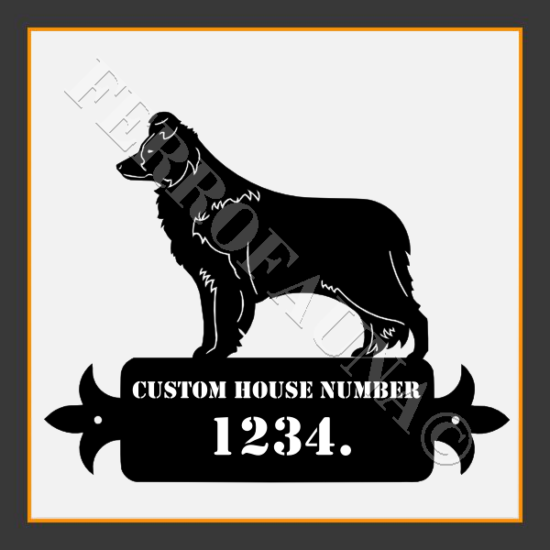 Border Collie Custom House Number