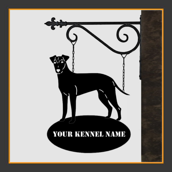 Manchester Terreier Sign With Kennel Name