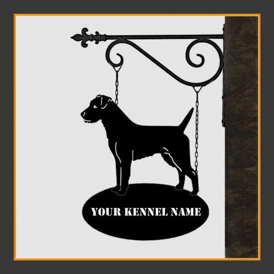 Parson Russell Terrier Sign With Kennel Name