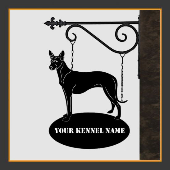 Pharaoh Hound Sign With Kennel Name