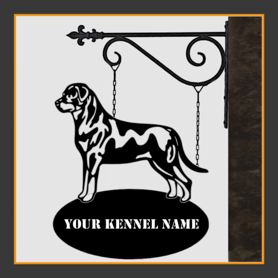 Rottweiler Sign With Kennel Name
