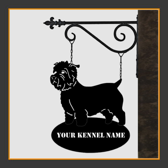 Glen of Imaal Terrier Sign With Kennel Name