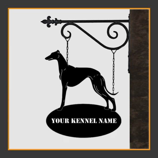 Whippet Sign With Kennel Name