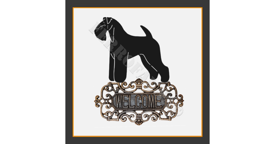 kerry blue terrier welcome sign kerry blue terrier. Black Bedroom Furniture Sets. Home Design Ideas